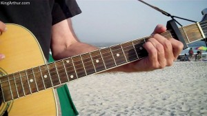 Writing the Guitar for *In A Fog* at Ocean City, NJ