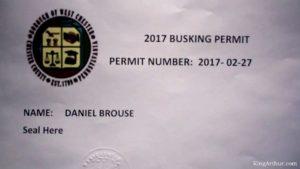 Busking Permit